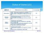 status of states 2 2