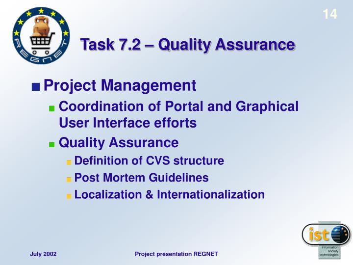 Task 7.2 – Quality Assurance