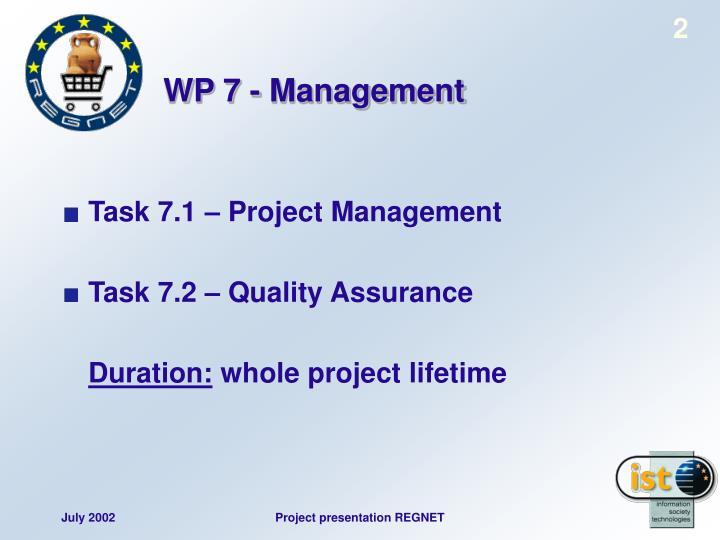 Wp 7 management