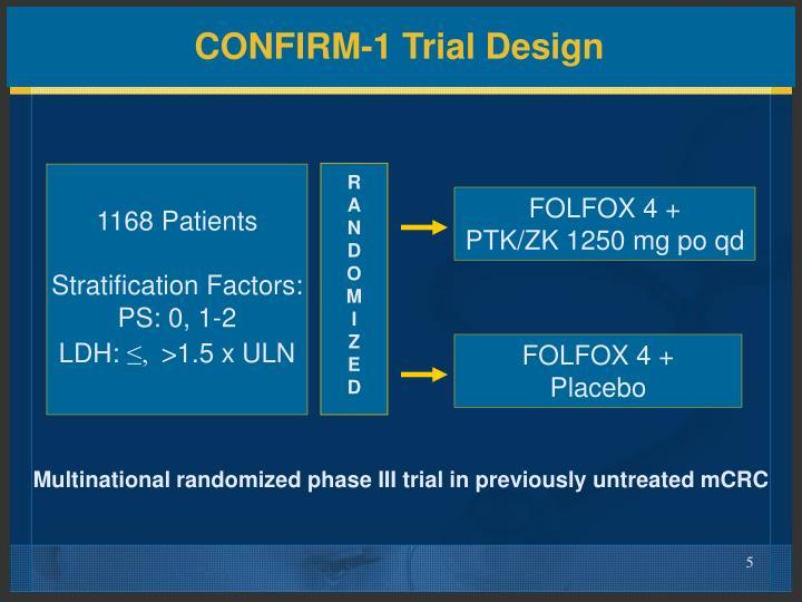CONFIRM-1 Trial Design