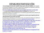desburocratizaci n