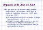 impactos de la crisis de 2002