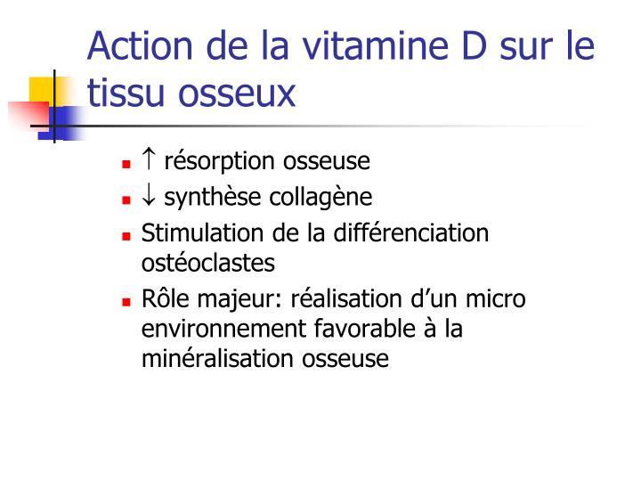 Action de la vitamine D sur le tissu osseux