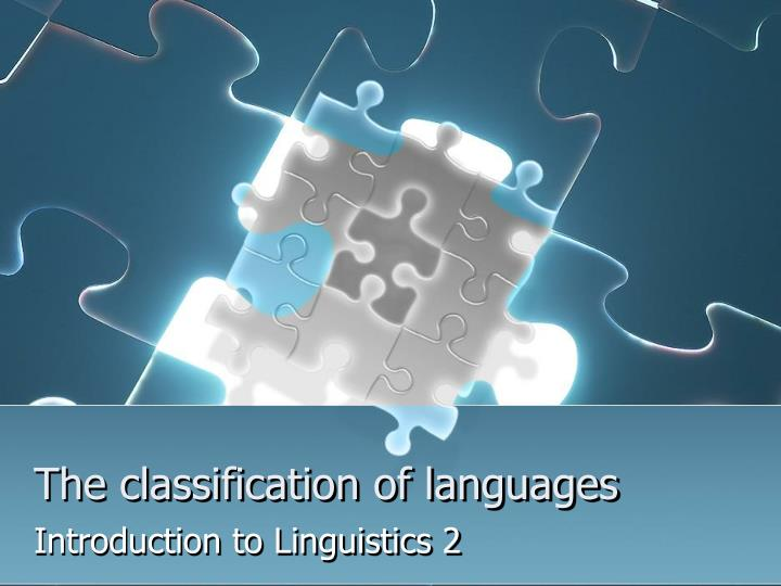 the classification of languages n.