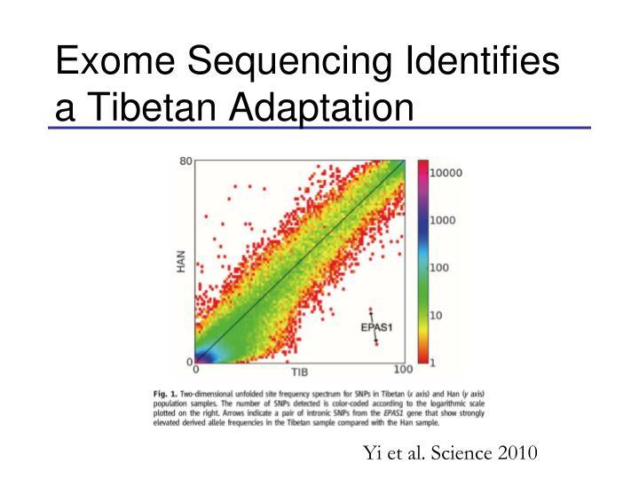 Exome Sequencing Identifies a Tibetan Adaptation