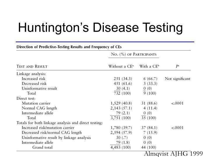 Huntington's Disease Testing