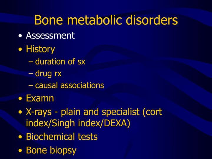 Bone metabolic disorders