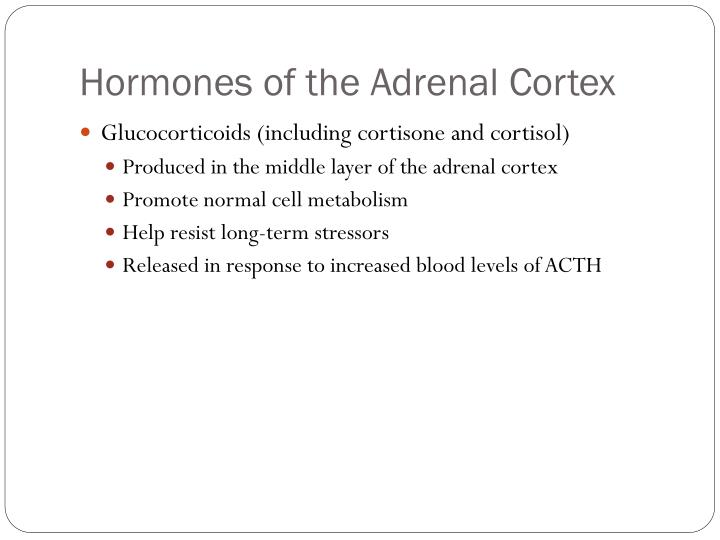 Hormones of the Adrenal Cortex