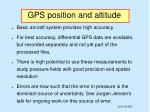 gps position and altitude