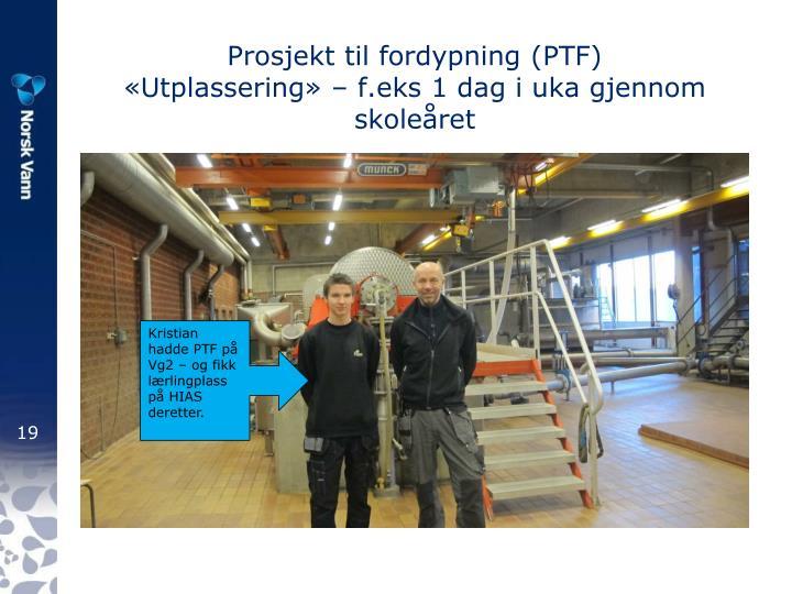 Prosjekt til fordypning (PTF)