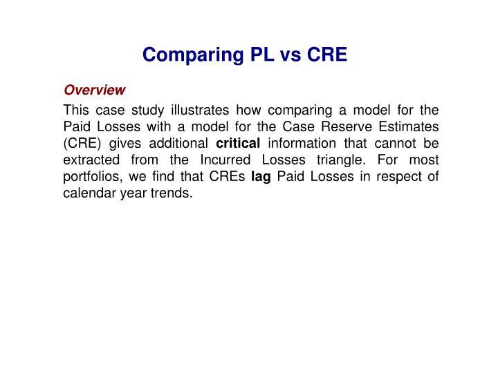 Comparing PL vs CRE