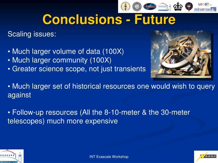 Conclusions - Future