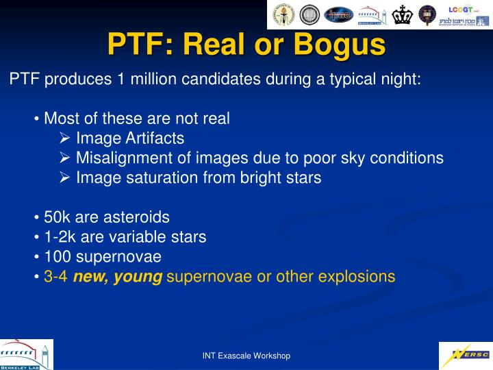 PTF: Real or Bogus