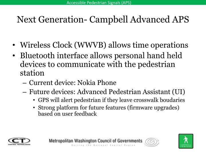 Next Generation- Campbell Advanced APS