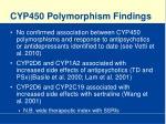 cyp450 polymorphism findings