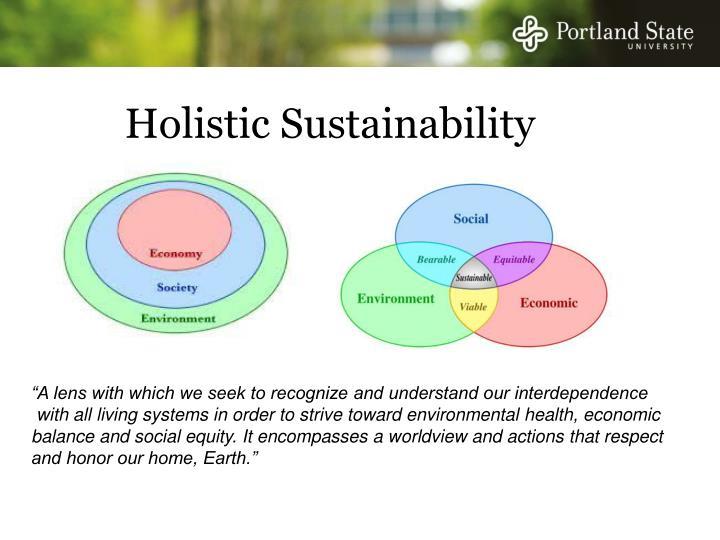 Holistic Sustainability