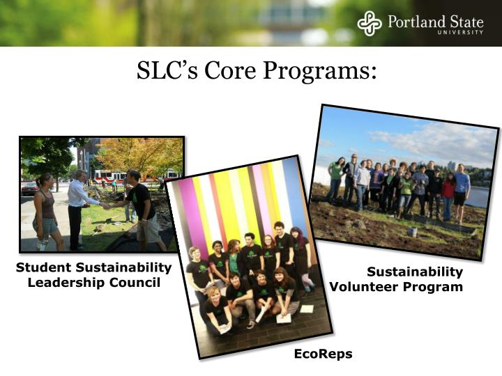 SLC's Core Programs: