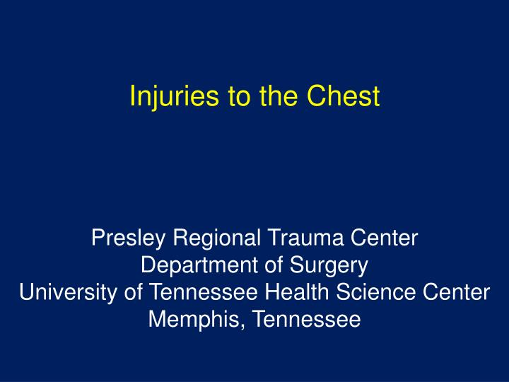 injuries to the chest n.