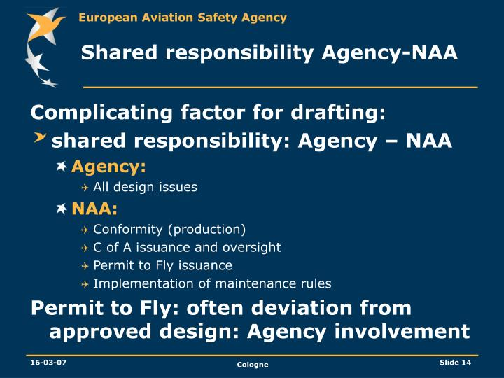 Shared responsibility Agency-NAA
