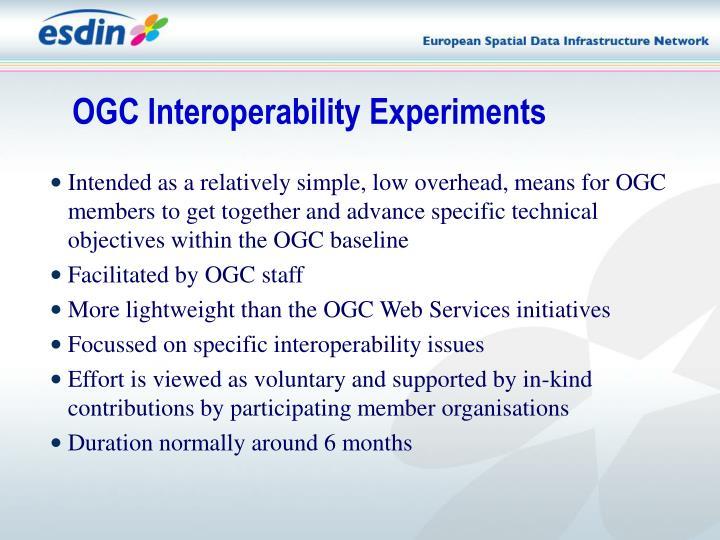 OGC Interoperability Experiments