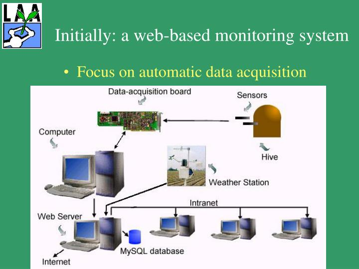 Initially a web based monitoring system