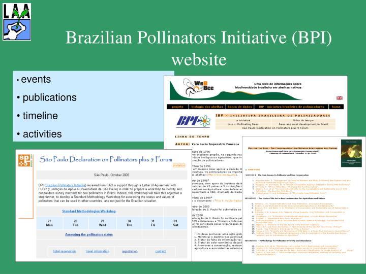 Brazilian Pollinators Initiative (BPI) website