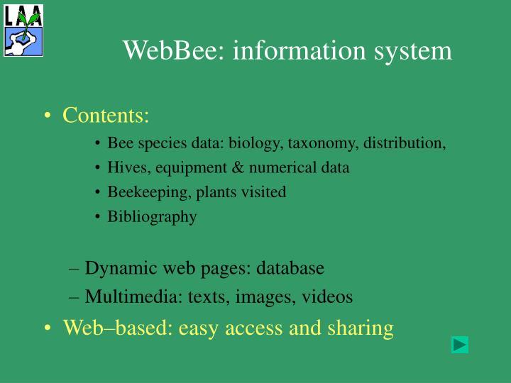WebBee: information system