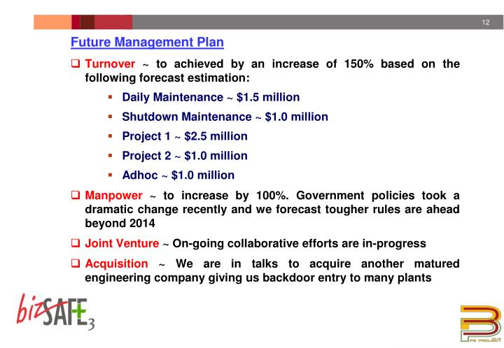 Future Management Plan