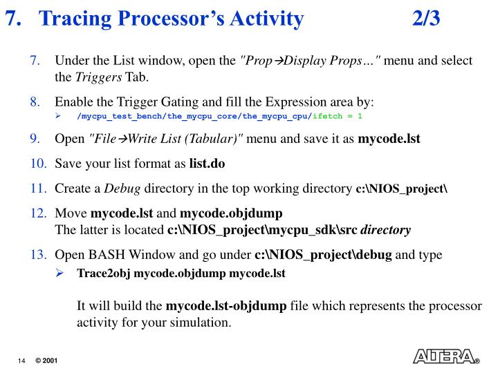 Tracing Processor's Activity