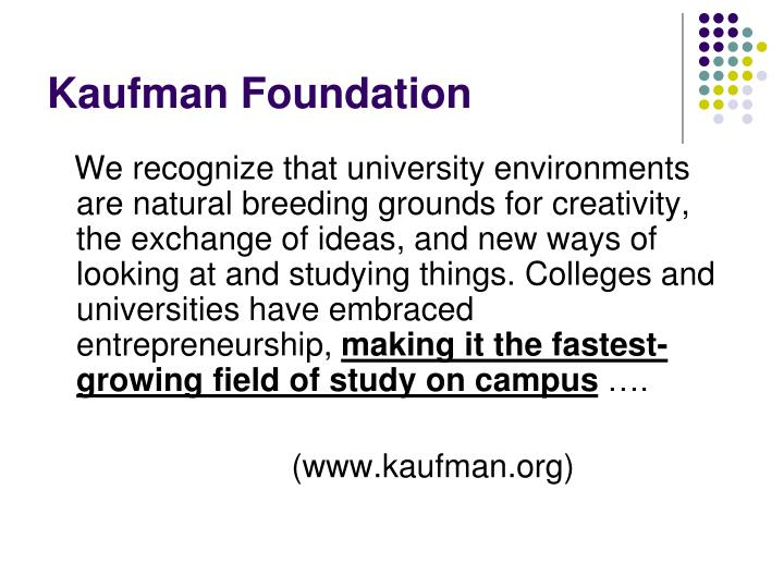 Kaufman foundation