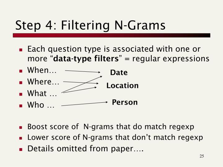 Step 4: Filtering N-Grams