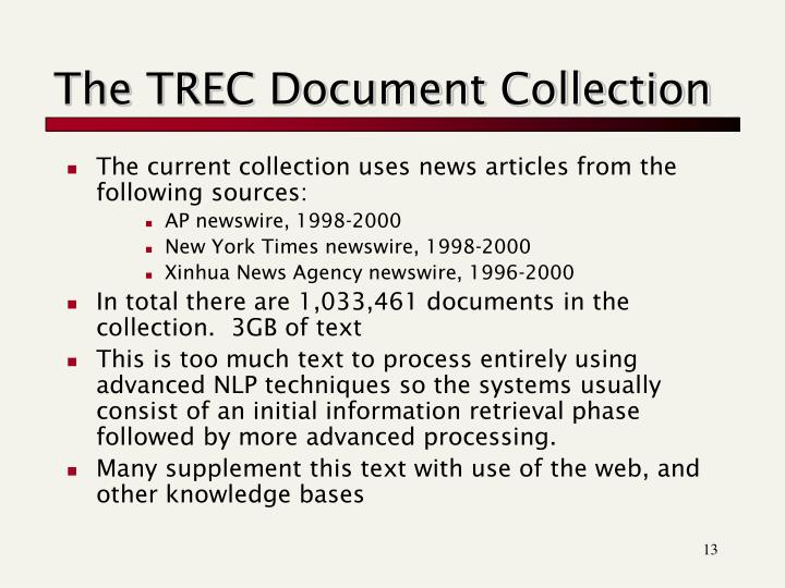 The TREC Document Collection