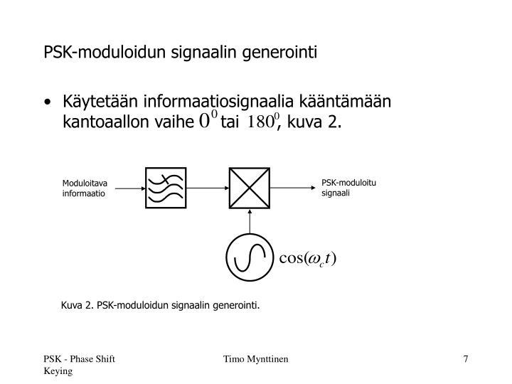 PSK-moduloidun signaalin generointi
