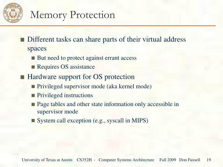 Memory Protection