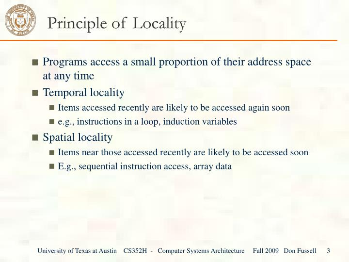 Principle of locality