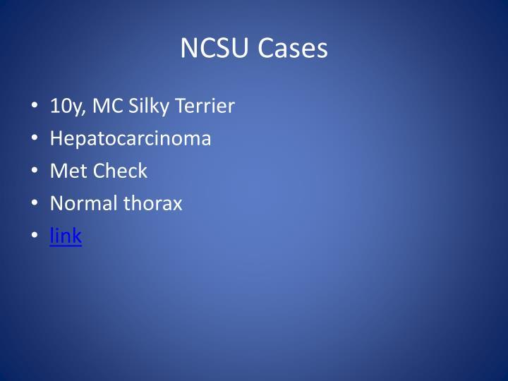 NCSU Cases
