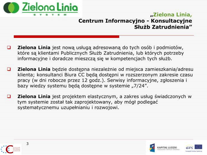 Zielona linia centrum informacyjno konsultacyjne s u b zatrudnienia1