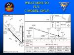 what mins to fly c model only