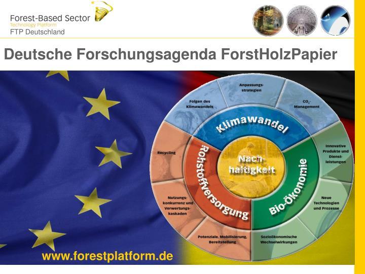 Deutsche Forschungsagenda ForstHolzPapier