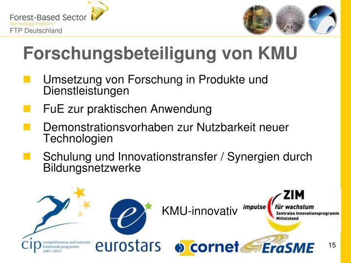 Forschungsbeteiligung von KMU