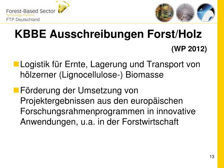 KBBE Ausschreibungen Forst/Holz