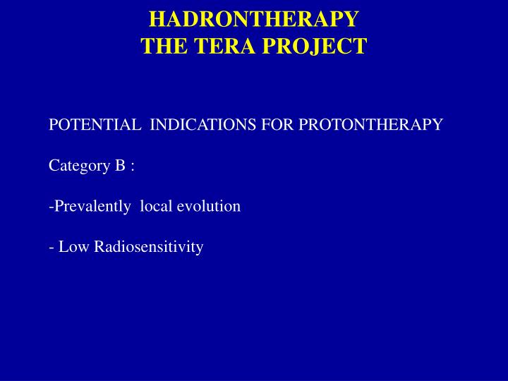 HADRONTHERAPY