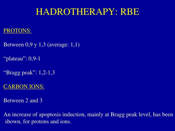 HADROTHERAPY: RBE