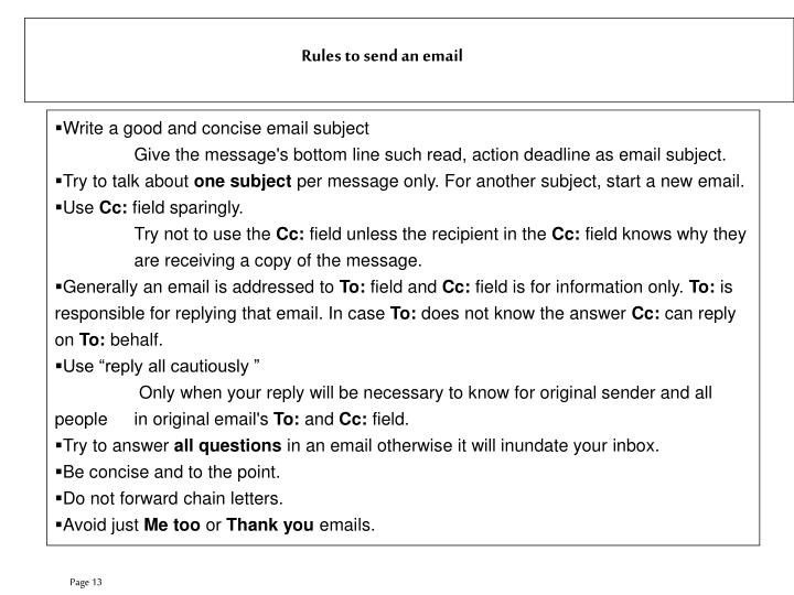 Write a good and concise email subject