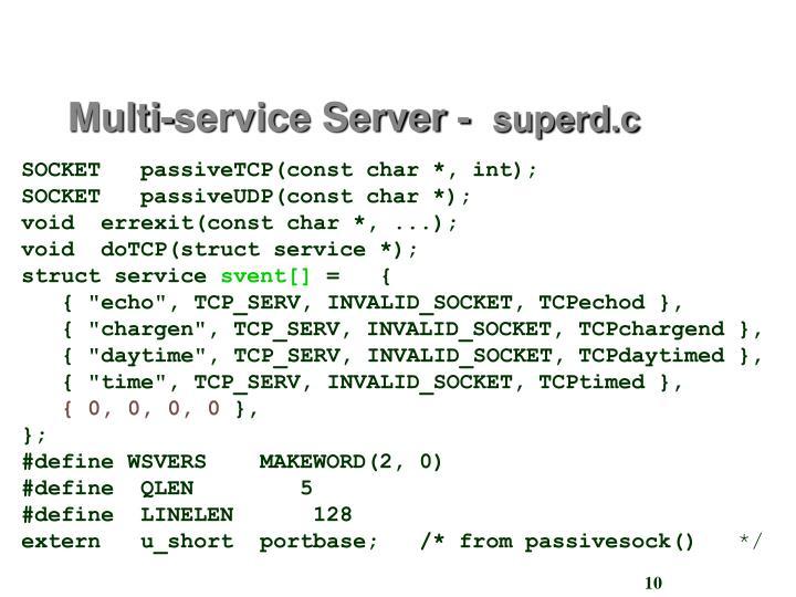 Multi-service Server -