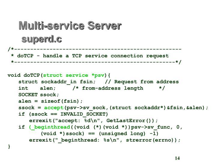 Multi-service Server