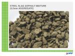 steel slag asphalt mixture 9 5mm aggregate