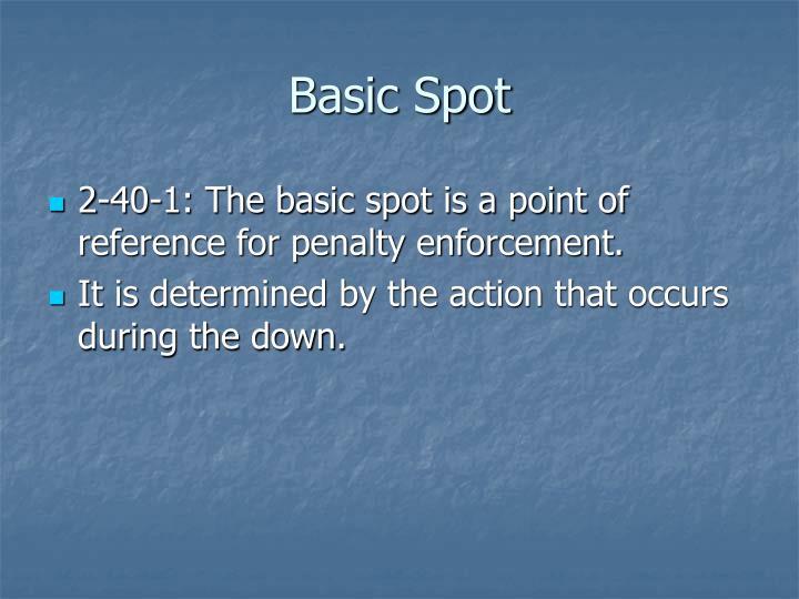 Basic Spot