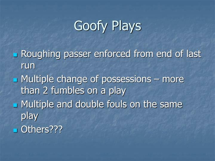 Goofy Plays
