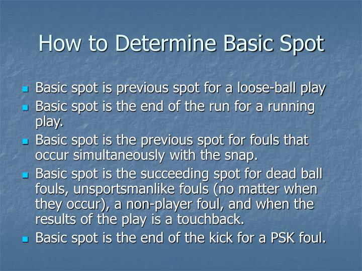 How to Determine Basic Spot